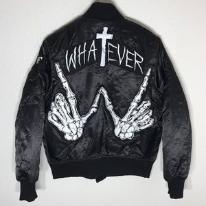 UNIF X UO MA-1 Whatever Embroidered Bomber Jacket